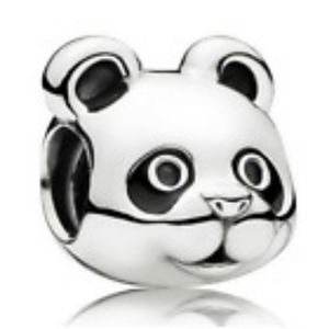 925 Sterling Silver Panda European Charm
